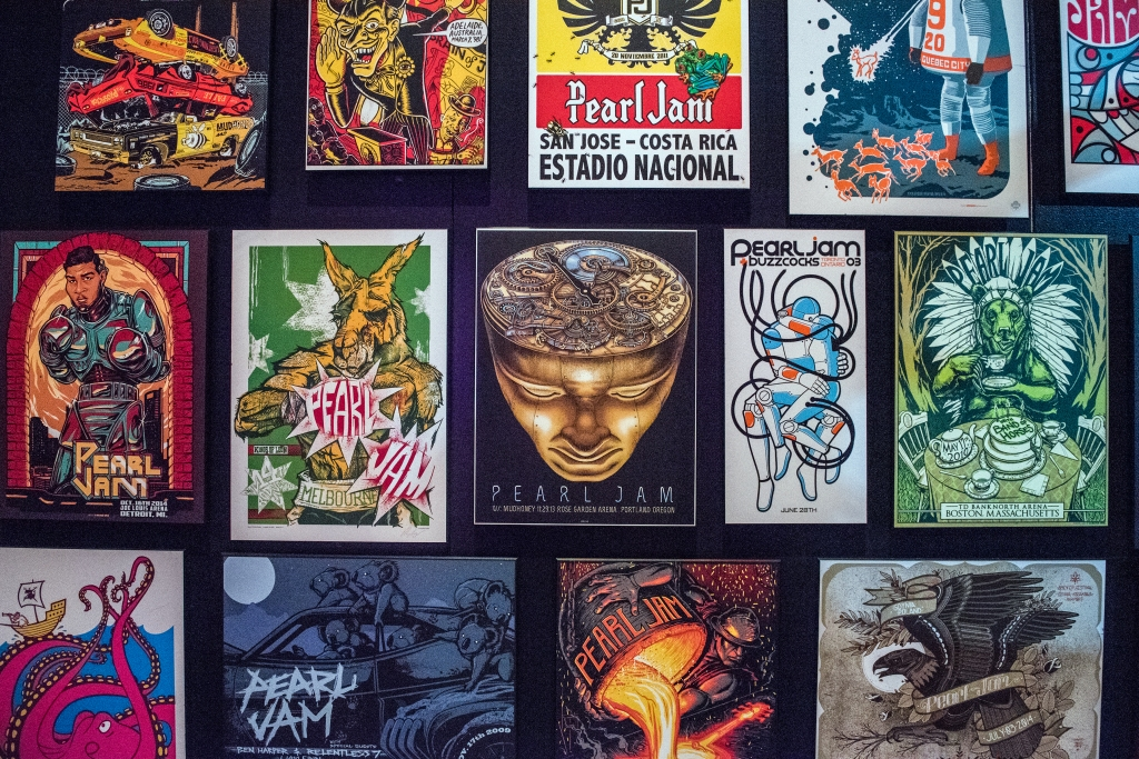 A sampling of the band's massive collection of gig posters