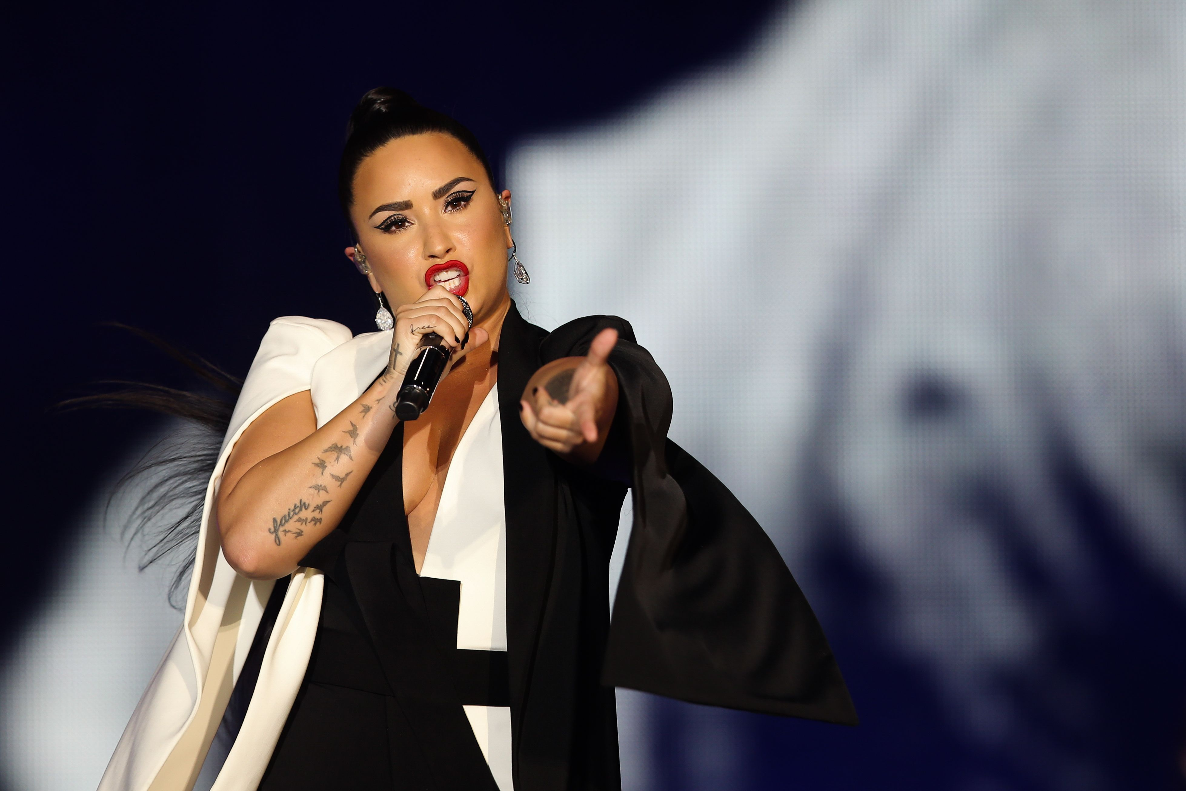 Demi LovatoRock in Rio Lisbon, Portugal - 24 Jun 2018US singer and composer Demi Lovato performs in concert at the World Stage during the 8th edition of Rock in Rio Lisbon, at Parque da Bela Vista in Lisbon, Portugal, 24 June 2018. The festival runs on 23, 24, 29 and 30 June.