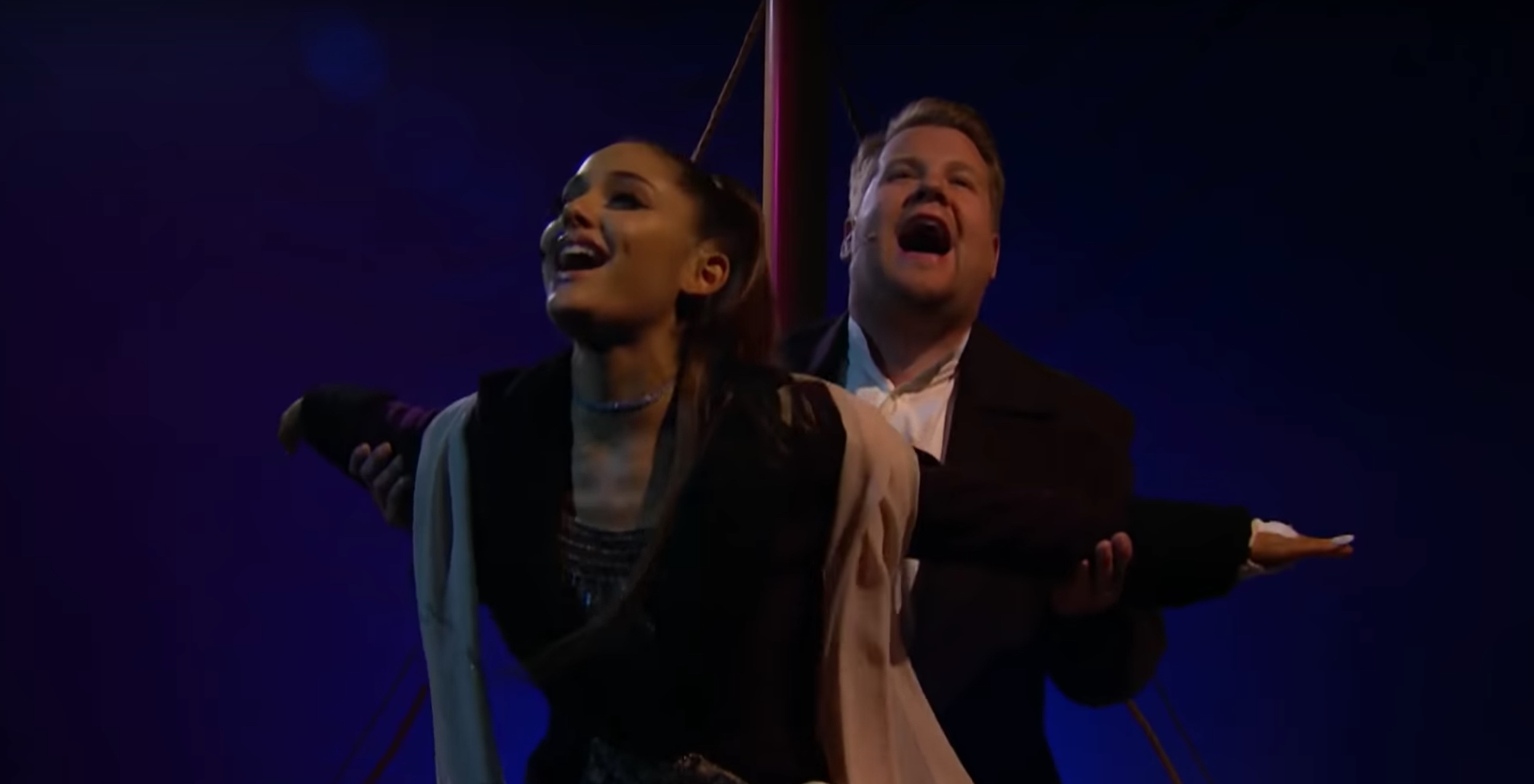 Ariana Grande, James Corden Performs & # 39; Titanic & # 39; with Foo Fighters, Lady Gaga Songs – Rolling Stone