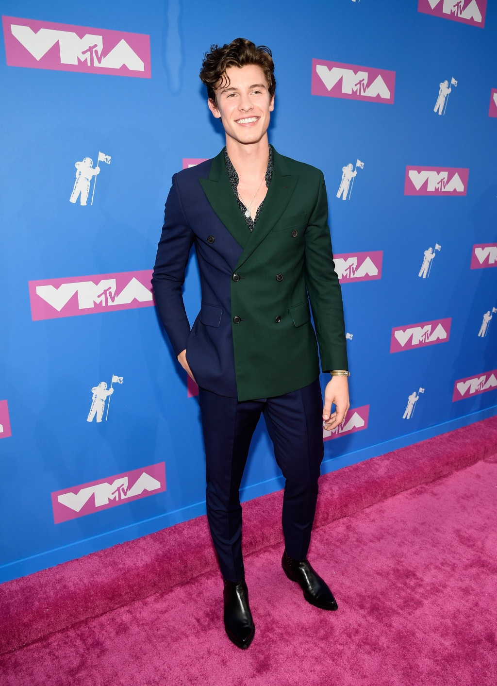 Shawn Mendes attends the 2018 MTV Video Music Awards at Radio City Music Hall on August 20, 2018 in New York City. (Photo by Kevin Mazur/WireImage)