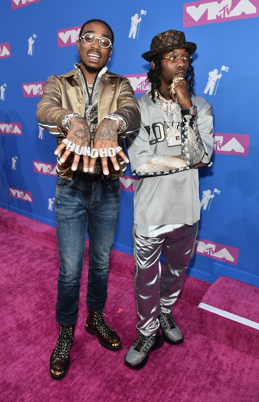 Quavo and Offset of Migos. (Photo by Mike Coppola/Getty Images for MTV)