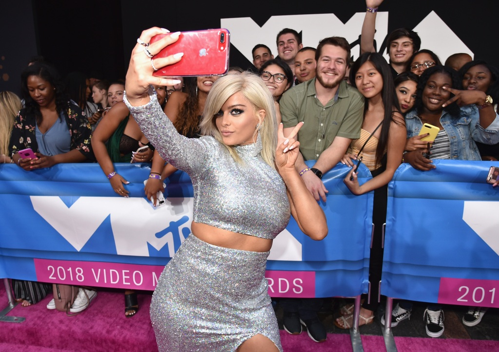 Bebe Rexha attends the 2018 MTV Video Music Awards at Radio City Music Hall on August 20, 2018 in New York City. (Photo by John Shearer/Getty Images for MTV)