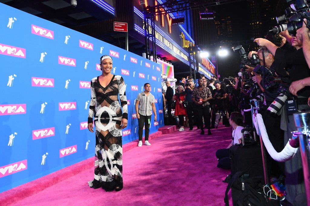 Tiffany Haddish attends the 2018 MTV Video Music Awards at Radio City Music Hall on August 20, 2018 in New York City. (Photo by Nicholas Hunt/Getty Images for MTV)