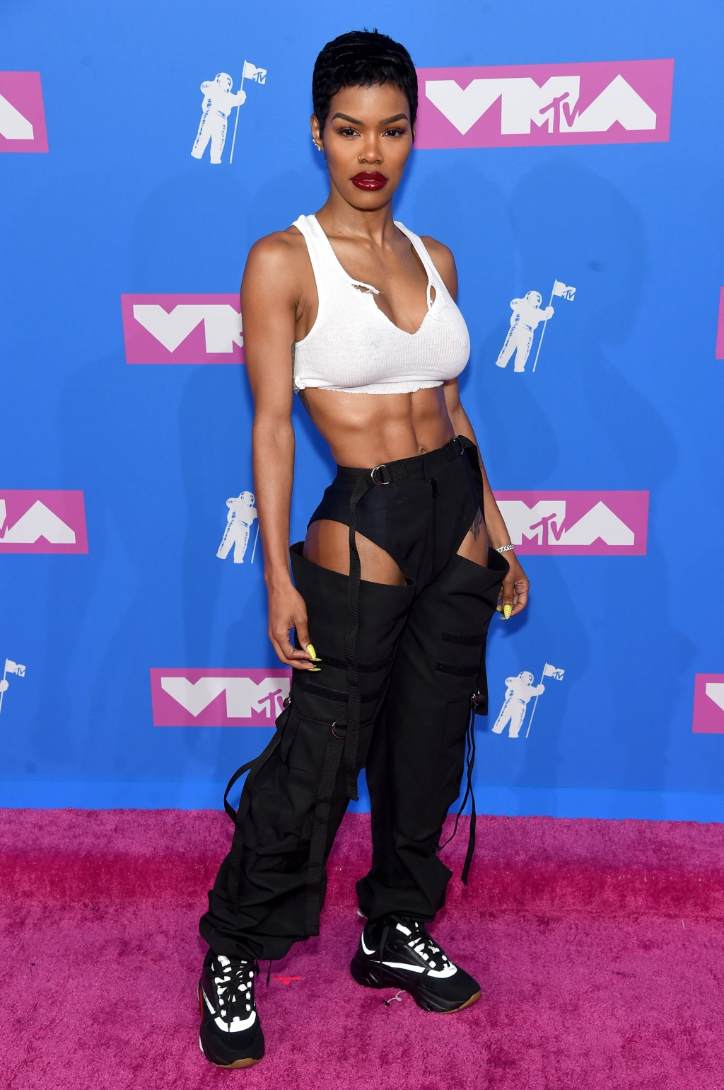 Teyana Taylor attends the 2018 MTV Video Music Awards at Radio City Music Hall on August 20, 2018 in New York City. (Photo by Jamie McCarthy/Getty Images)