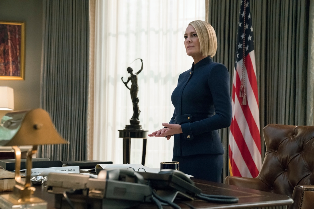Netflix's first original drama will conclude without its original star, after multiple allegations of sexual misconduct against Kevin Spacey led to his firing. As a result, the show's focus now shifts from Frank Underwood to Robin Wright's icy, indomitable Claire, who'll tangle with a pair of Koch brothers-esque power broker siblings played by Diane Lane and Greg Kinnear. End of an era, even if it's not quite the end that was planned.  A.S.
