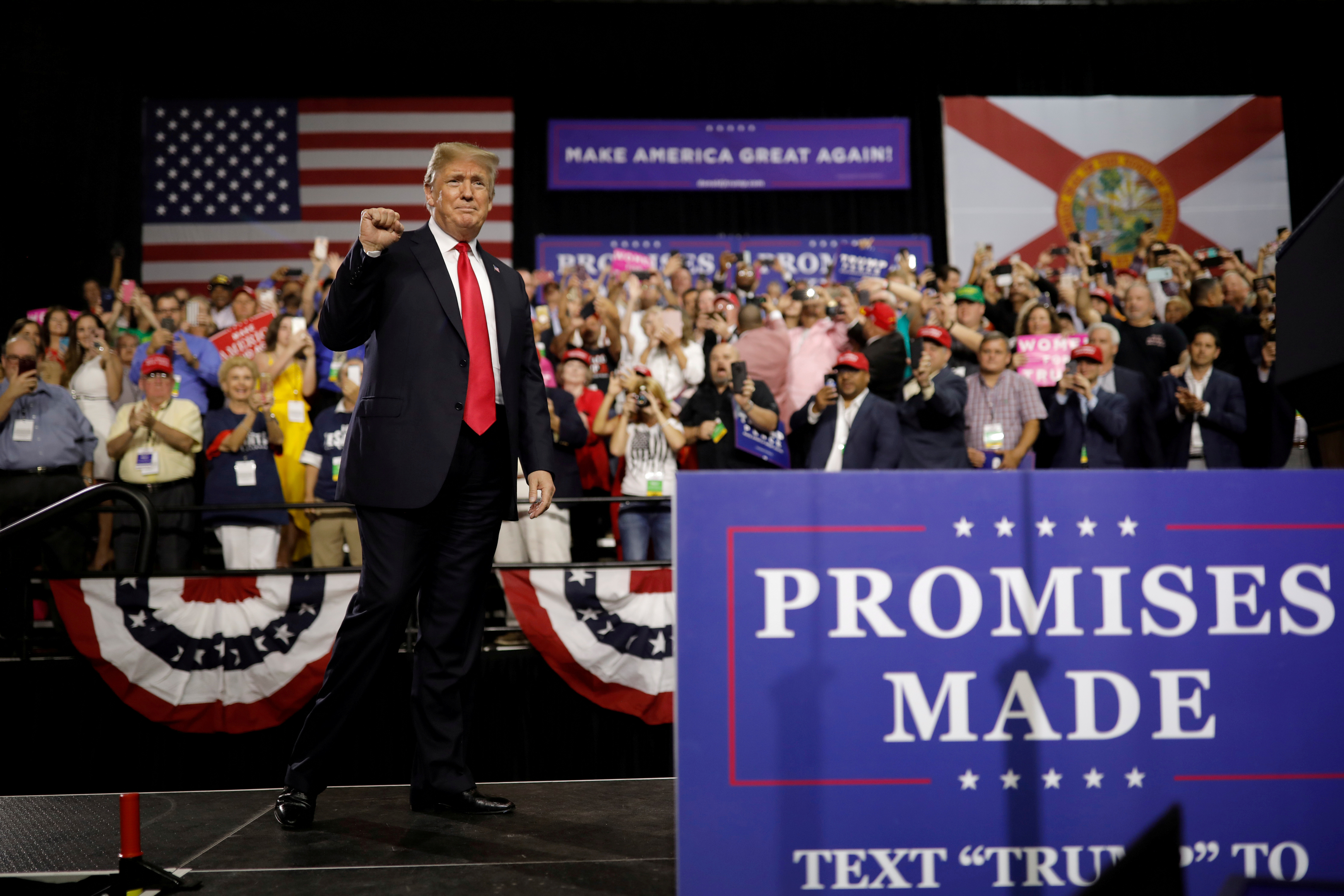 As QAnon Goes Mainstream, Trump's Rallies Are Turning Darker