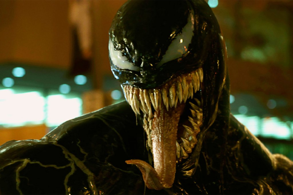 "You thought Marvel was going to sit this season out? Fat chance. Tom Hardy stars as Eddie Brock, a journalist who, thanks to some sort of ""symbiote"" suit, morphs into a toothy, bizarro version of Spider-Man known as Venom. The actor admits that the character is all about ""biting off heads"" (check out those jaws). Fine by us. We love it when Hardy goes into unhinged mode. PT Watch the Trailer"