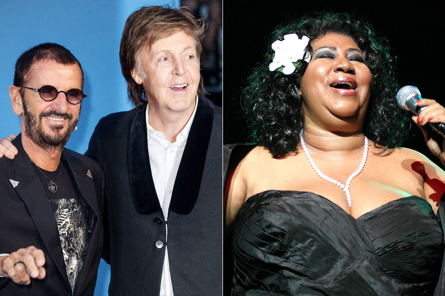 The Beatles Aretha Franklin Former Paul McCartney And Ringo Starr