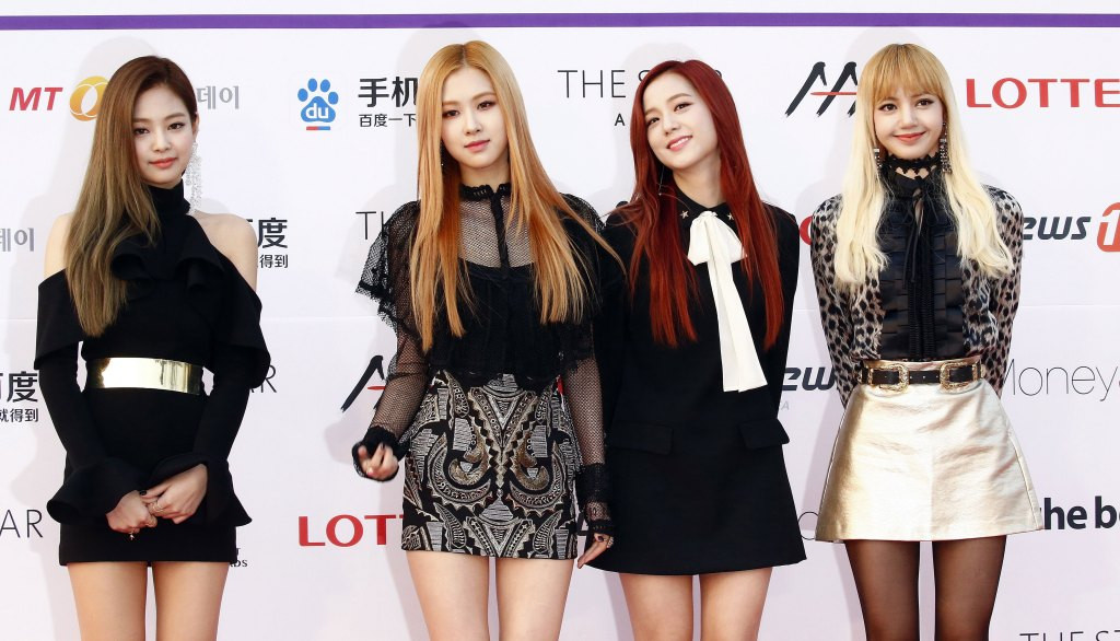 South Korean Girl Group 'Blackpink' Members Pose As They Arrive For the Asia Artist Awards 2016 at the Kyunghee University in Seoul South Korea 16 November 2016 Korea, Republic of SeoulSouth Korea Cinema Asia Artist Award - Nov 2016 South Korean girl group 'BLACKPINK' members pose as they arrive for the Asia Artist Awards 2016 at the Kyunghee University in Seoul, South Korea, 16 November 2016.
