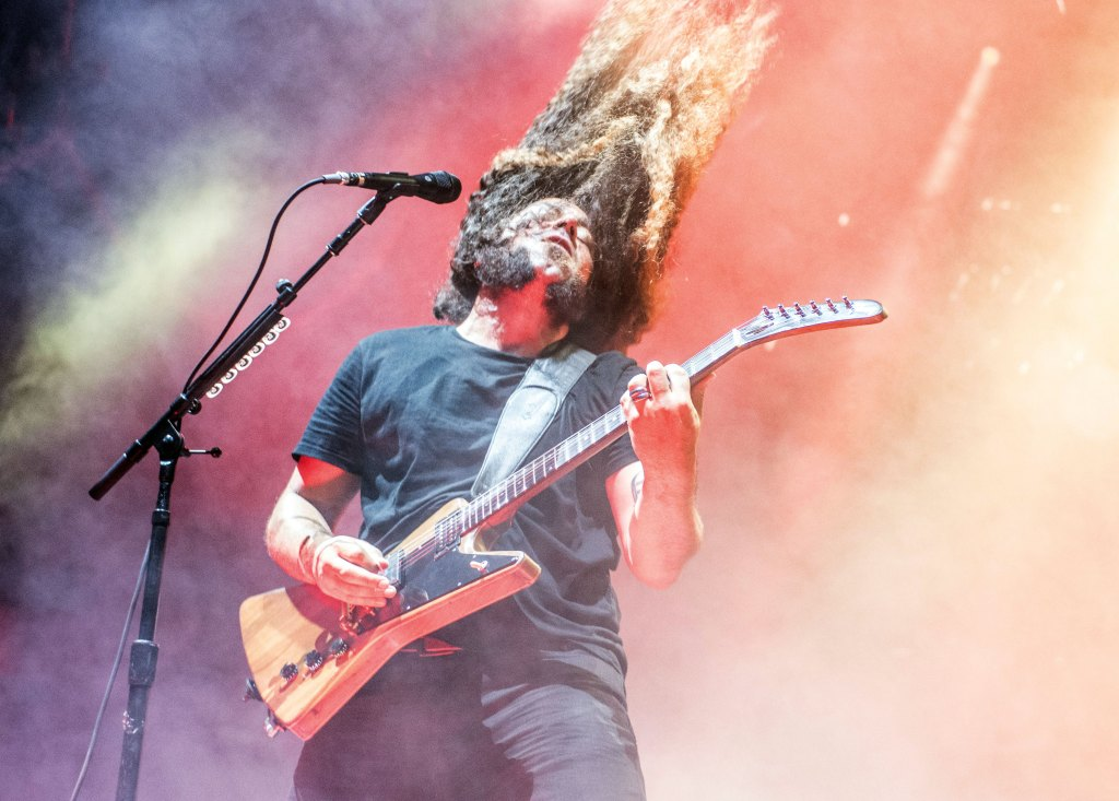 Coheed and Cambria- Claudio SanchezCoheed and Cambira in concert at Ascend Amphitheater, Nashville, USA - 11 Jul 2018