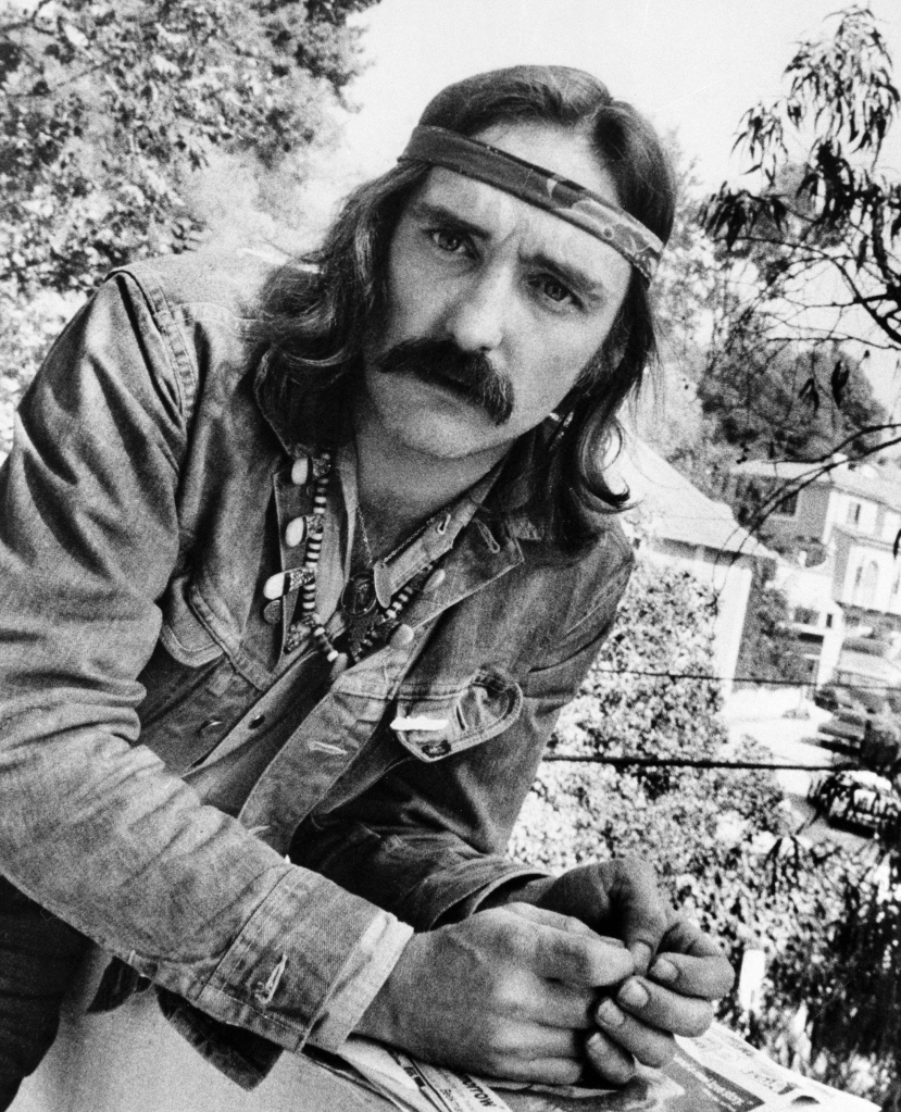 "Director-actor Dennis Hopper poses in Hollywood, Ca. Hopper, the Hollywood actor-director whose memorable career included the 1969 smash ""Easy Rider,"" died at his Venice, Calif. home. He was 74Obit Dennis Hopper, LOS ANGELES, USA - 1 Oct 1971"