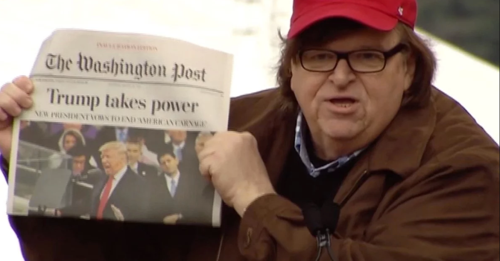 "You may have been asking yourself: So what's Michael Moore been up to as our nation falls apart thanks to a corrupt, lying, conniving, truth-isn't-truth administration? The answer: making this documentary that charts everything from ""how the hell did this happen?"" regarding our current state of crisis to the next-gen grassroots activists that have sprung up in opposition. Expect lots of muckraking and Moore's usual gonzo stunts, like spraying the Michigan governor Rick Snyder's house with what appears to be polluted Flint water. DF Watch the trailer"