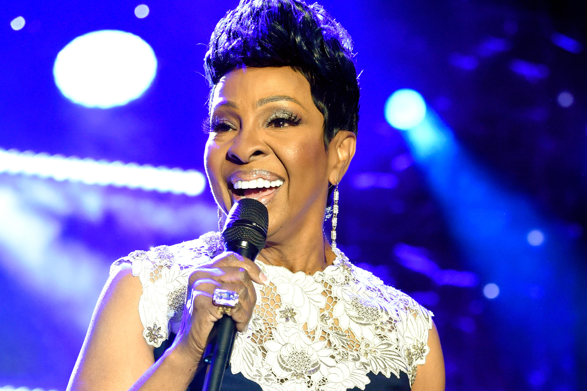 NEW YORK, NY - JANUARY 27:  Recording artist Gladys Knight performs onstage during the Clive Davis and Recording Academy Pre-GRAMMY Gala and GRAMMY Salute to Industry Icons Honoring Jay-Z on January 27, 2018 in New York City.  (Photo by Kevin Mazur/Getty Images for NARAS)