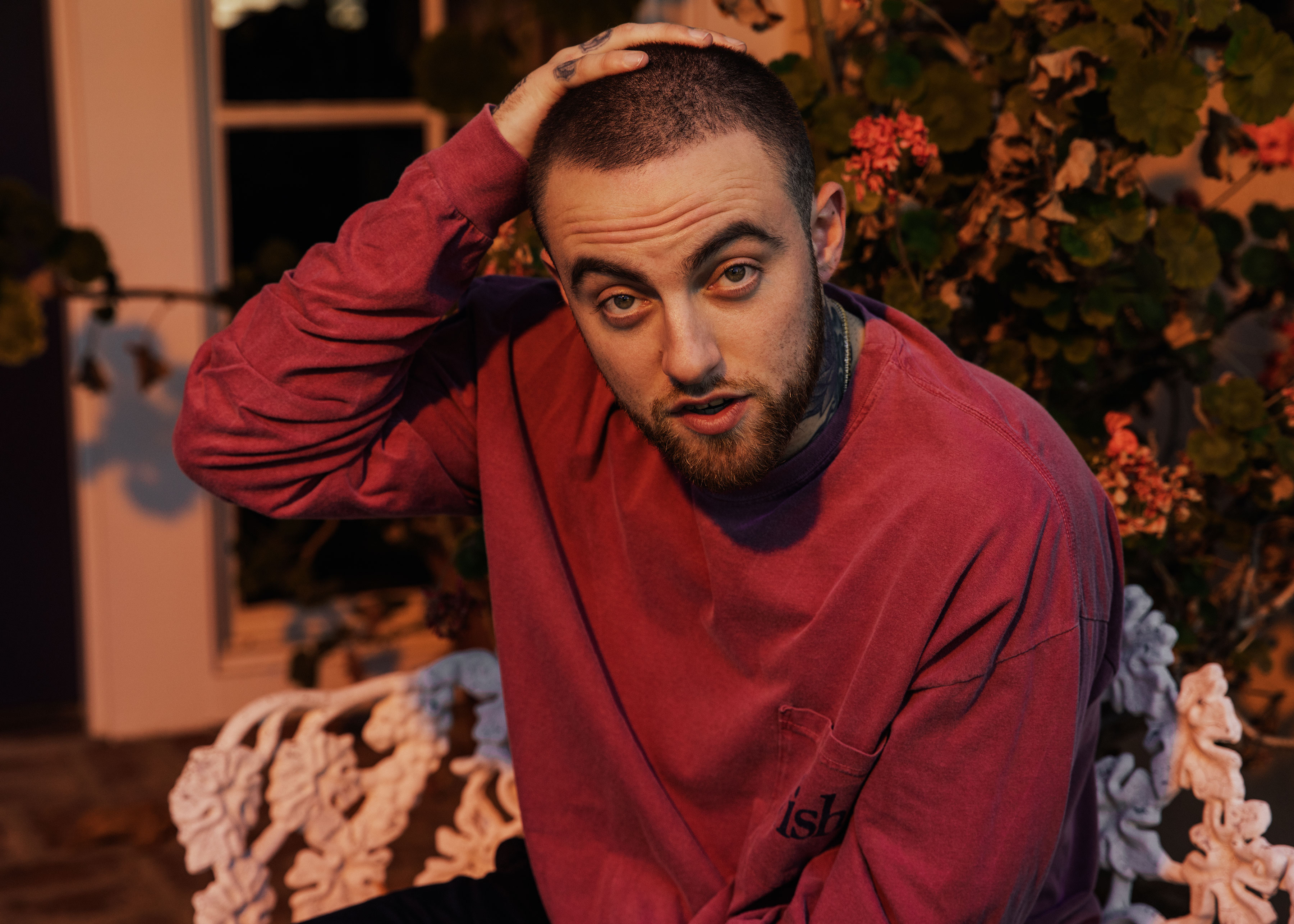 Mac Miller photographed July 31st at his home in Los Angeles, CA.
