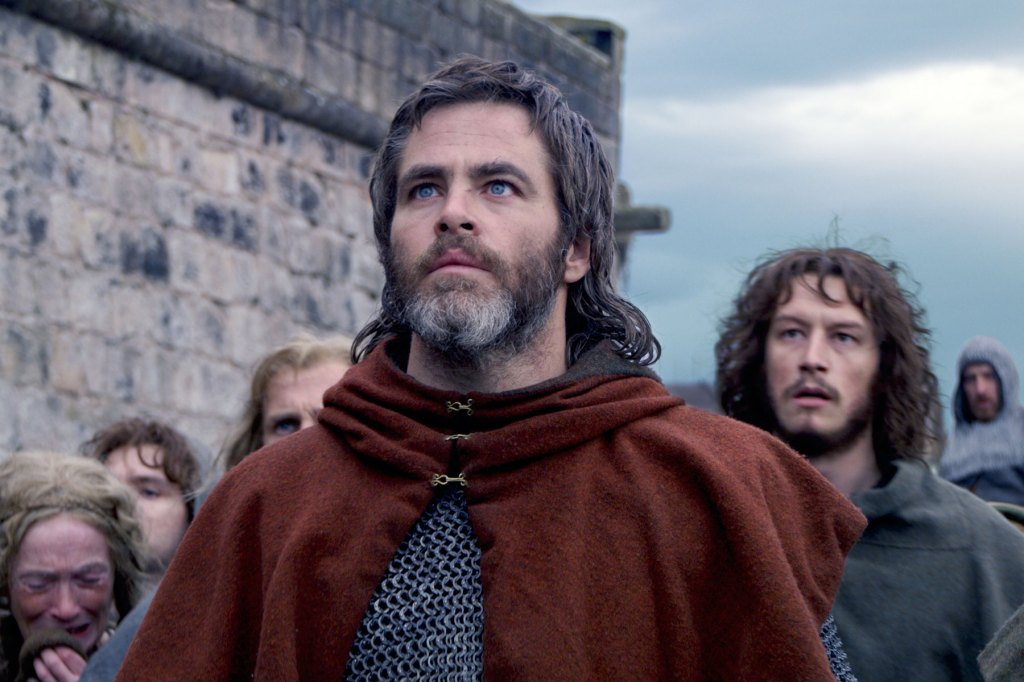 Chris Pine teams up once more with Hell or High Water director David Mackenzie for this retelling of Robert the Bruce, the Scottish nobleman who helped liberate his country from the tyrannical King Edward the First, one bloody and muddy battle at a time. It's both an old-school, big-screen historical epic — the kind that has sweeping scenes of armies galloping across huge expanses and lopping off limbs by the dozens — and a sort of scrappy, shaky-cam unofficial sequel to Braveheart. Put it to you this way: If you've ever wanted to see Pine rock Liam Gallagher's old haircut, speak with a brogue and wield a broadsword, you're going to be extremely happy. DF Watch the Trailer