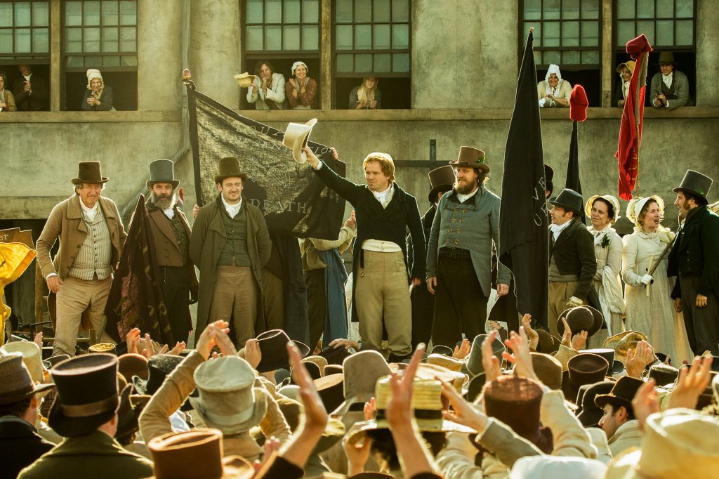 This retelling of the Peterloo massacre of 1819 finds British filmmaker extraordinaire Mike Leigh (Life Is Sweet, Naked, Topsy Turvy) revisiting a day in Manchester when English soldiers turned a public protest for political reform into a bloodbath. How this subject will square with his usual collaborative filmmaking methods remains to be seen, but the combination of the tragedy's anti-authoritarian anger and aching humanism suggests it's right up his alley. DF Watch the Trailer
