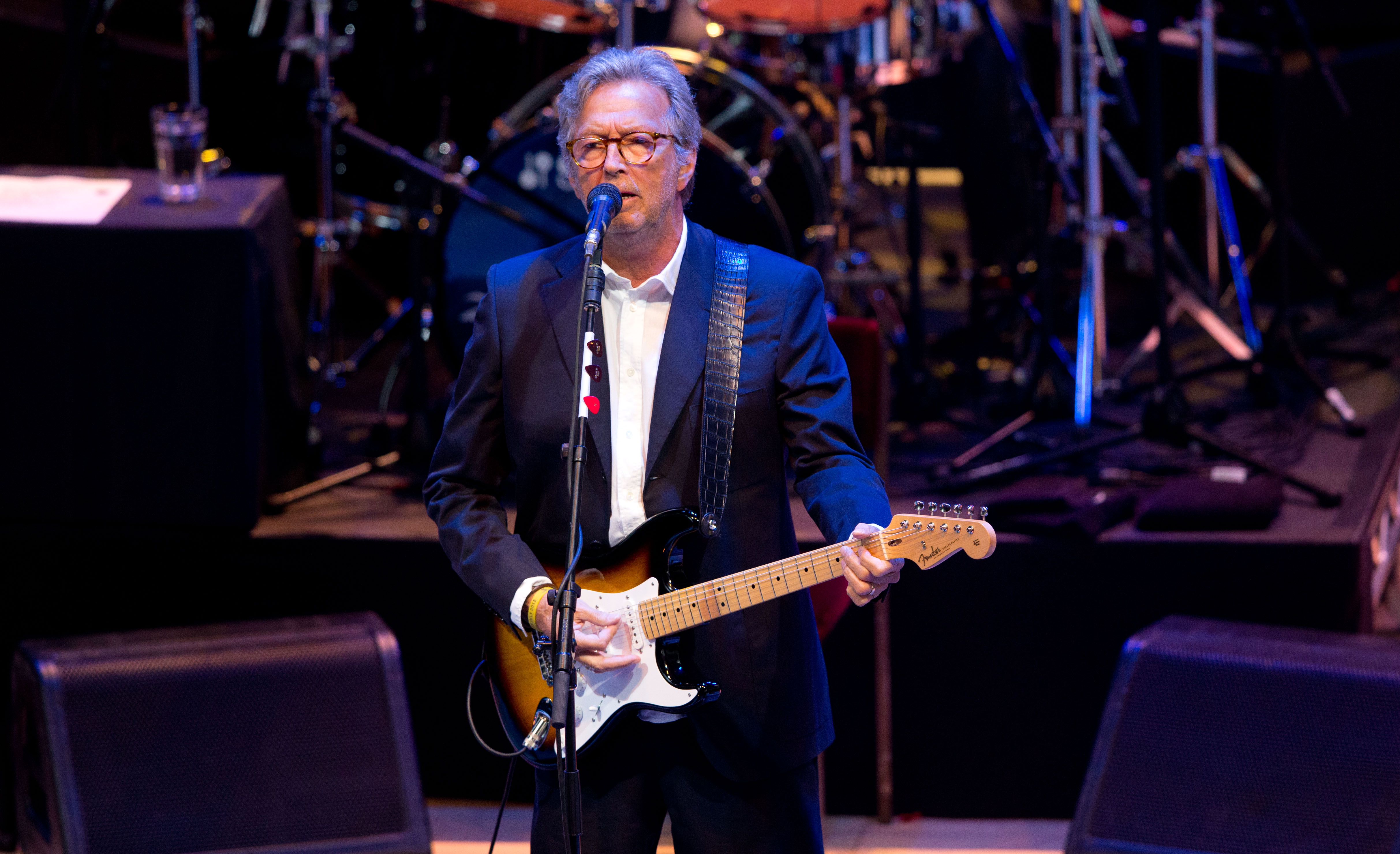eric clapton has announced his first christmas album happy xmas a collection of seasonal songs that arrives this october - Blues Christmas Songs