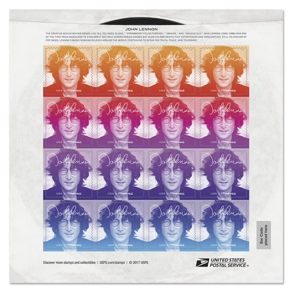 The Beatles Polska: John Lennon na znaczku pocztowym