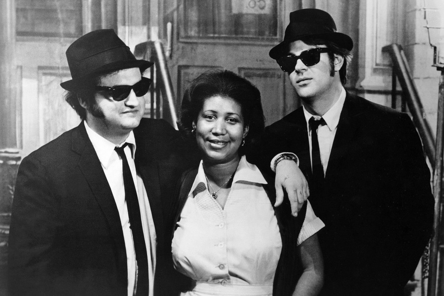 Editorial use only. No book cover usage.Mandatory Credit: Photo by Universal/Kobal/REX/Shutterstock (5885886l)John Belushi, Aretha Franklin, Dan AykroydThe Blues Brothers - 1980Director: John LandisUniversal PicturesUSAComedy