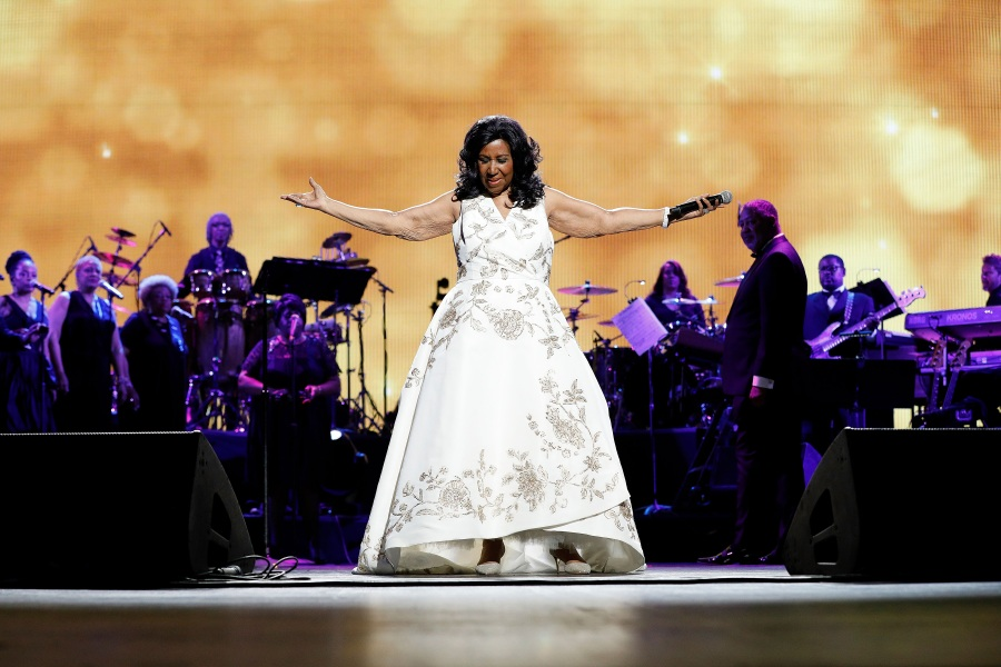 "NEW YORK, NY - APRIL 19:  Aretha Franklin performs during the 2017 Tribeca Film Festival Opening Gala premiere of ""Clive Davis: The Soundtrack of our Lives"" at Radio City Music Hall on April 19, 2017 in New York City.  (Photo by Taylor Hill/Getty Images)"
