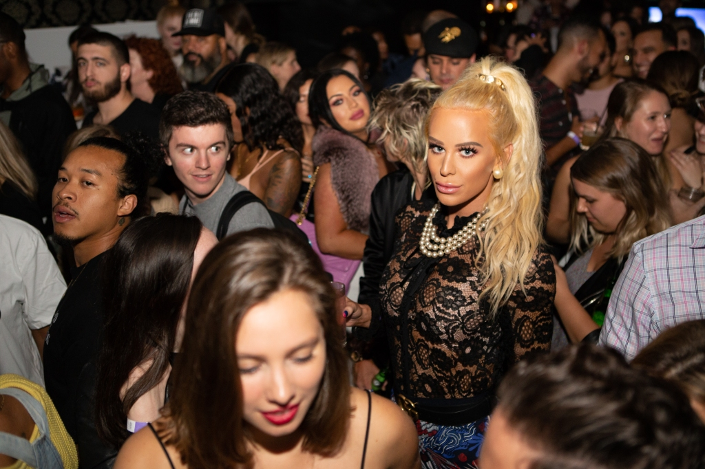 YouTuber Gigi Gorgeous in the crowd during the evening's festivities.