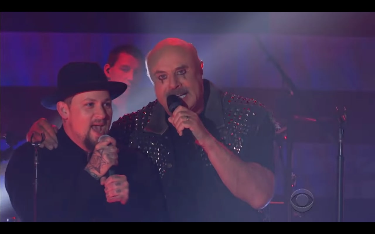 Good Charlotte, Dr. Phil Form Awkward Supergroup on 'Corden'