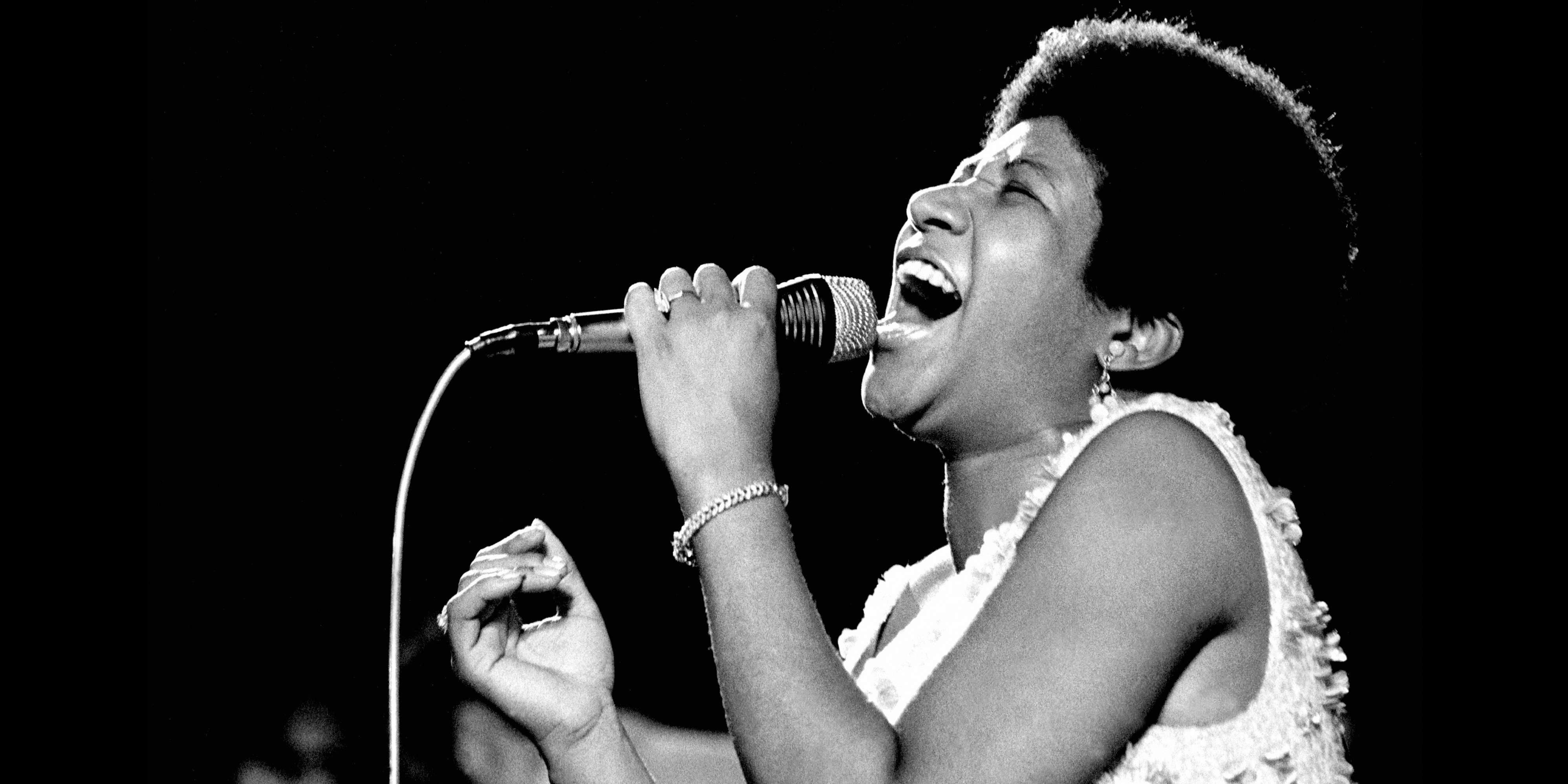 ITALY - AUGUST 01:  Photo of Aretha Franklin 4; live in Palermo  (Photo by Jan Persson/Redferns)
