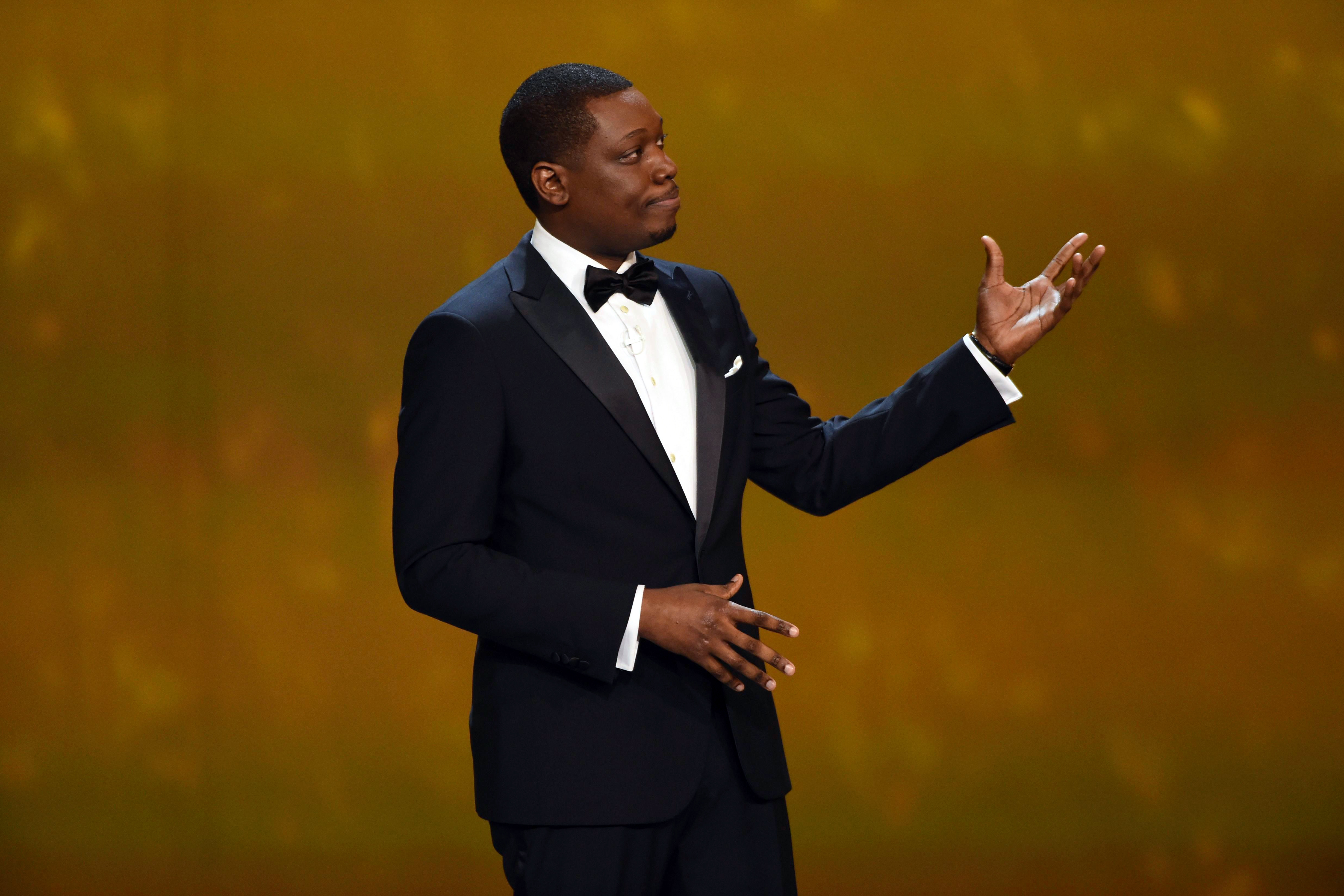 Host Michael Che speaks at the 70th Primetime Emmy Awards, at the Microsoft Theater in Los Angeles70th Primetime Emmy Awards - Show, Los Angeles, USA - 17 Sep 2018