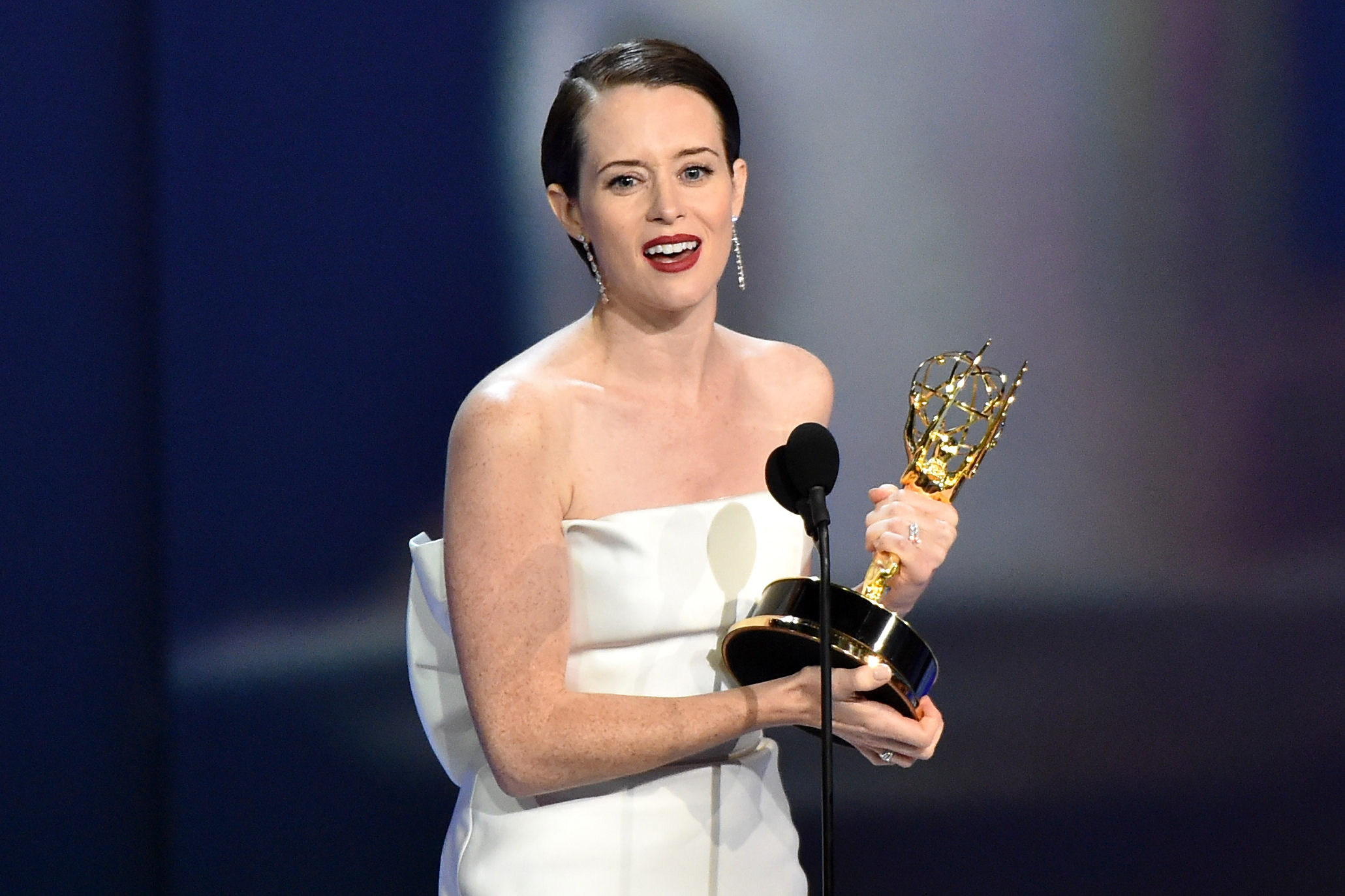 Claire Foy - Outstanding Lead Actress in a Drama Series - 'The Crown'70th Primetime Emmy Awards, Show, Los Angeles, USA - 17 Sep 2018