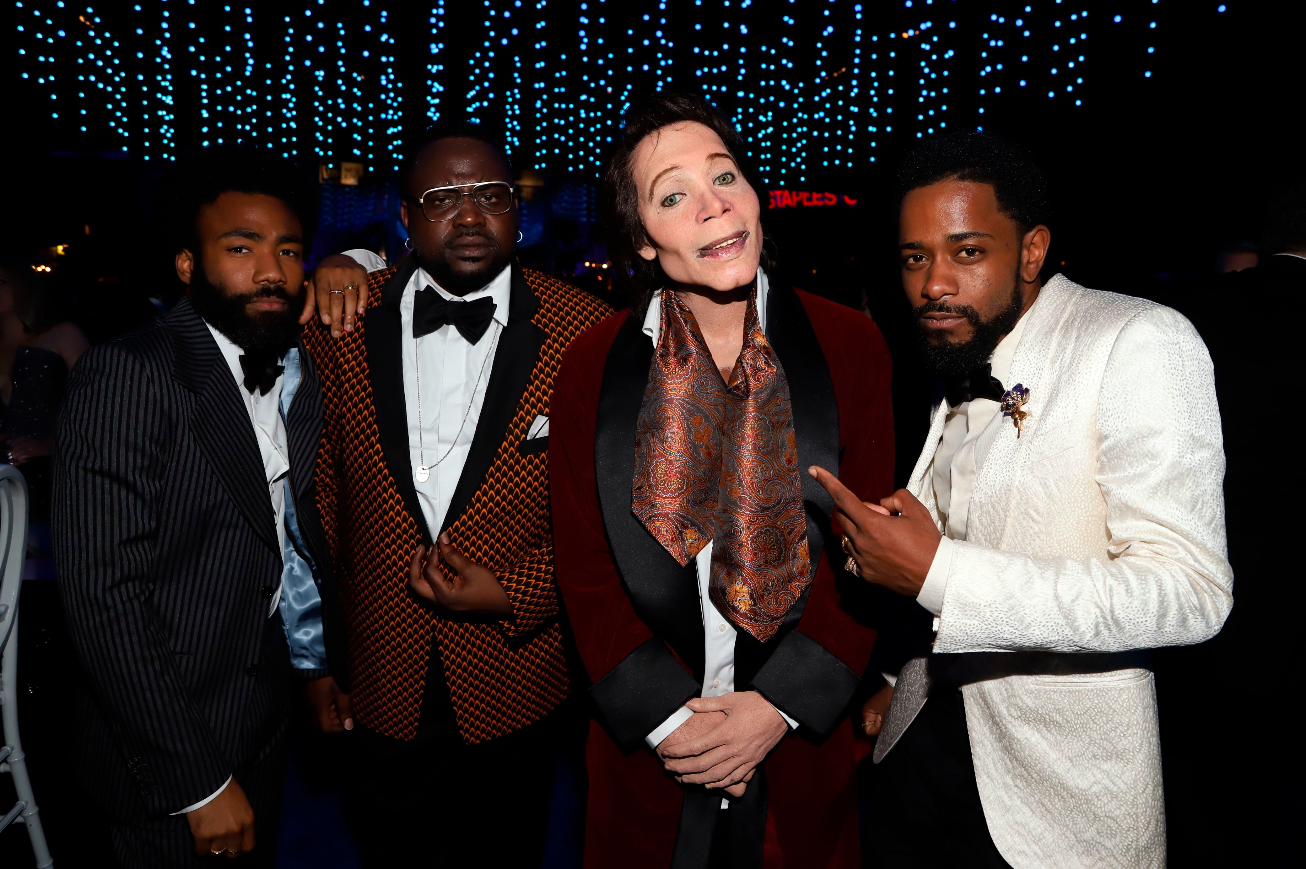 "Donald Glover, Brian Tyree Henry, Teddy Perkins, Lakeith Stanfield. Donald Glover, Brian Tyree Henry, ""Teddy Perkins"" and Lakeith Stanfield attend the Governors Ball for the 70th Primetime Emmy Awards, at the Microsoft Theater in Los Angeles70th Primetime Emmy Awards - Governors Ball, Los Angeles, USA - 17 Sep 2018"