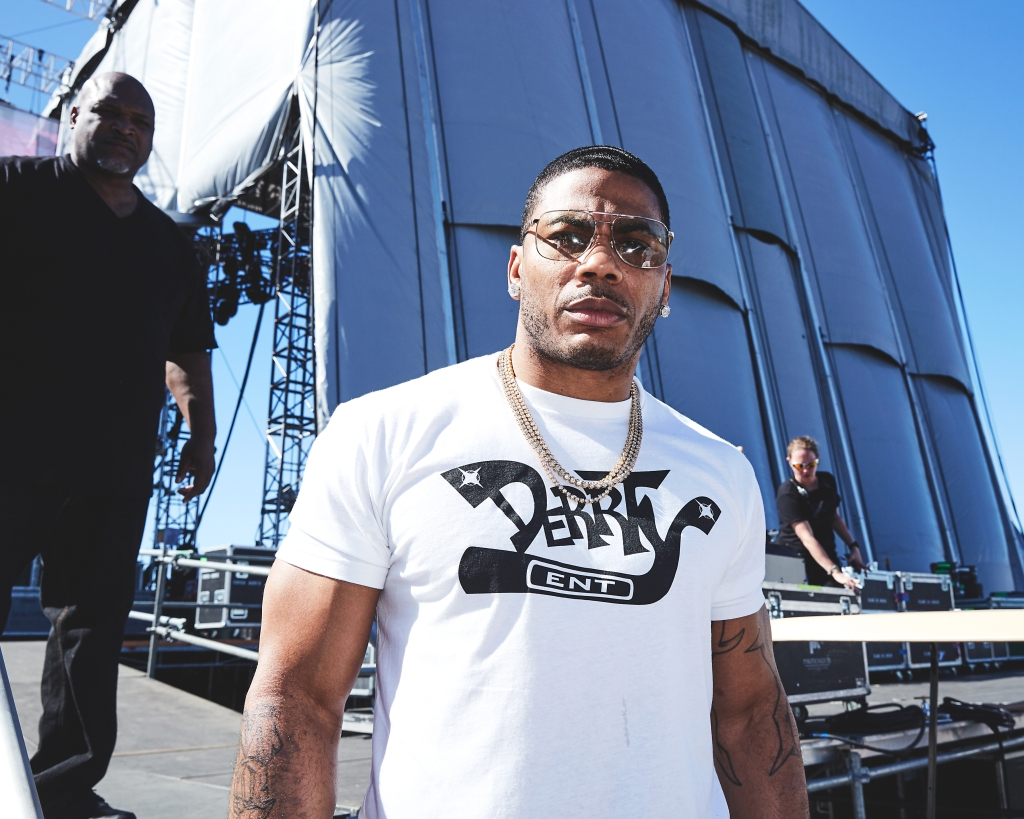 Nelly backstageat the 2018 Kaaboo Del Mar Festival