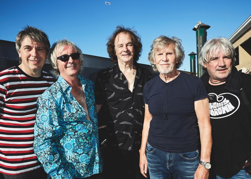 The Zombies backstageat the 2018 Kaaboo Del Mar Festival at Del Mar Fairgrounds