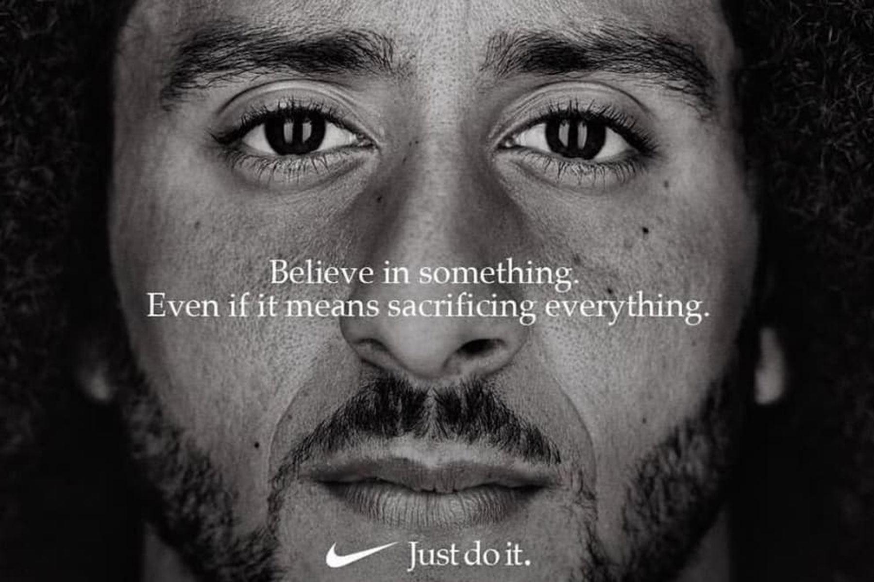 Image result for new ad of nike kaepernick