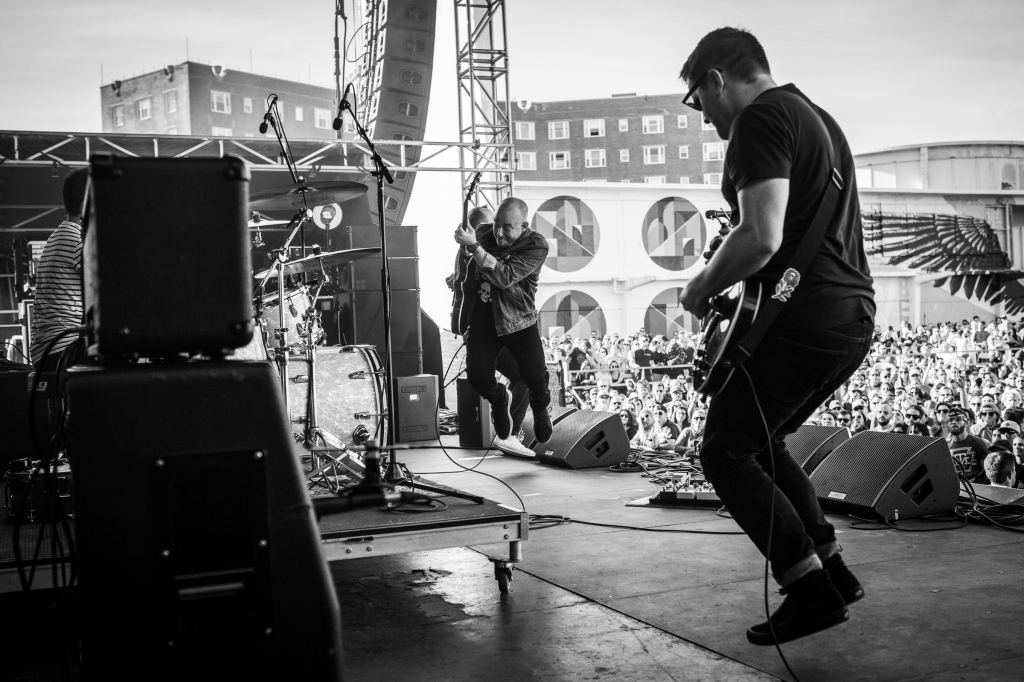 The Menzingers delivered a high energy set on Sunday afternoon.