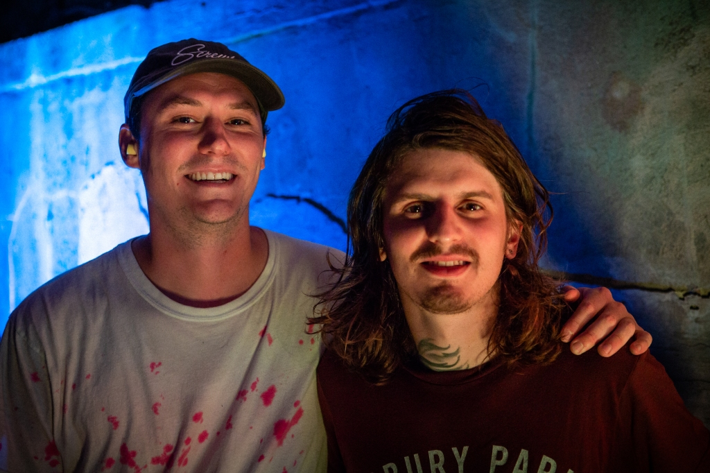 Brian Sella and Matt Uychich of the Front Bottoms after their set.