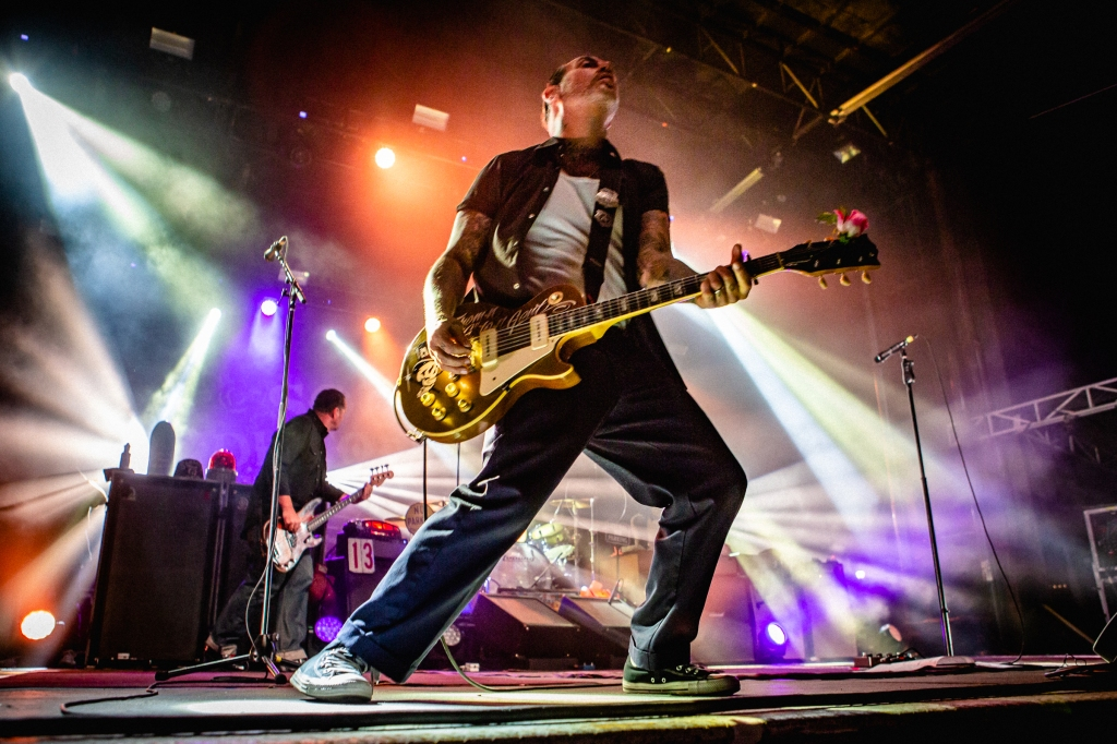 Mike Ness of Social Distortion rips a guitar social on Sunday night at Sea Hear Now.