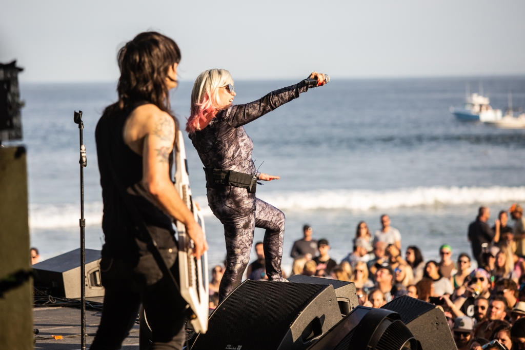 Blondie performs at Sea Hear Now Music Festival in Asbury Park, New Jersey.