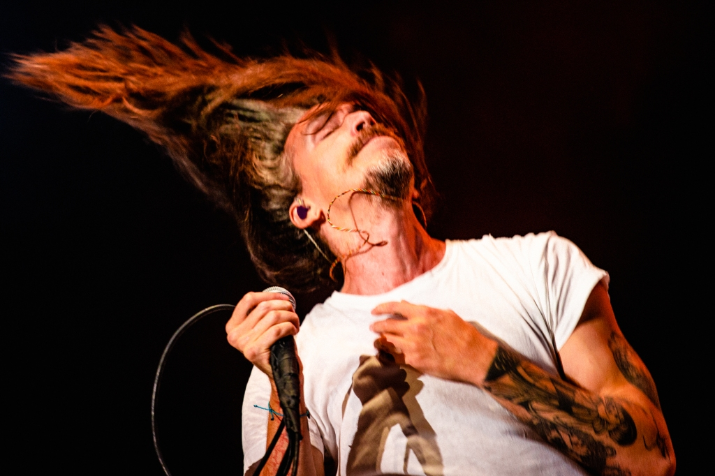 Incubus lead singer, Brandon Boyd, closes out Saturday night on the Surf Stage.