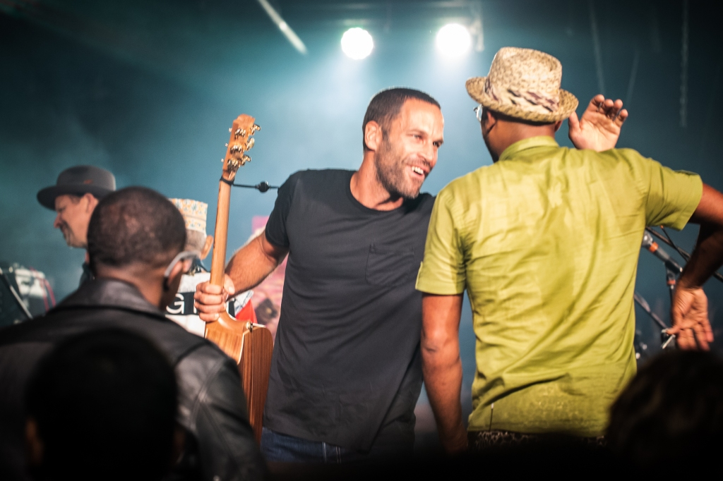 Jack Johnson joins Pres Hall during a Saturday night after party at the famed Stone Pony club.