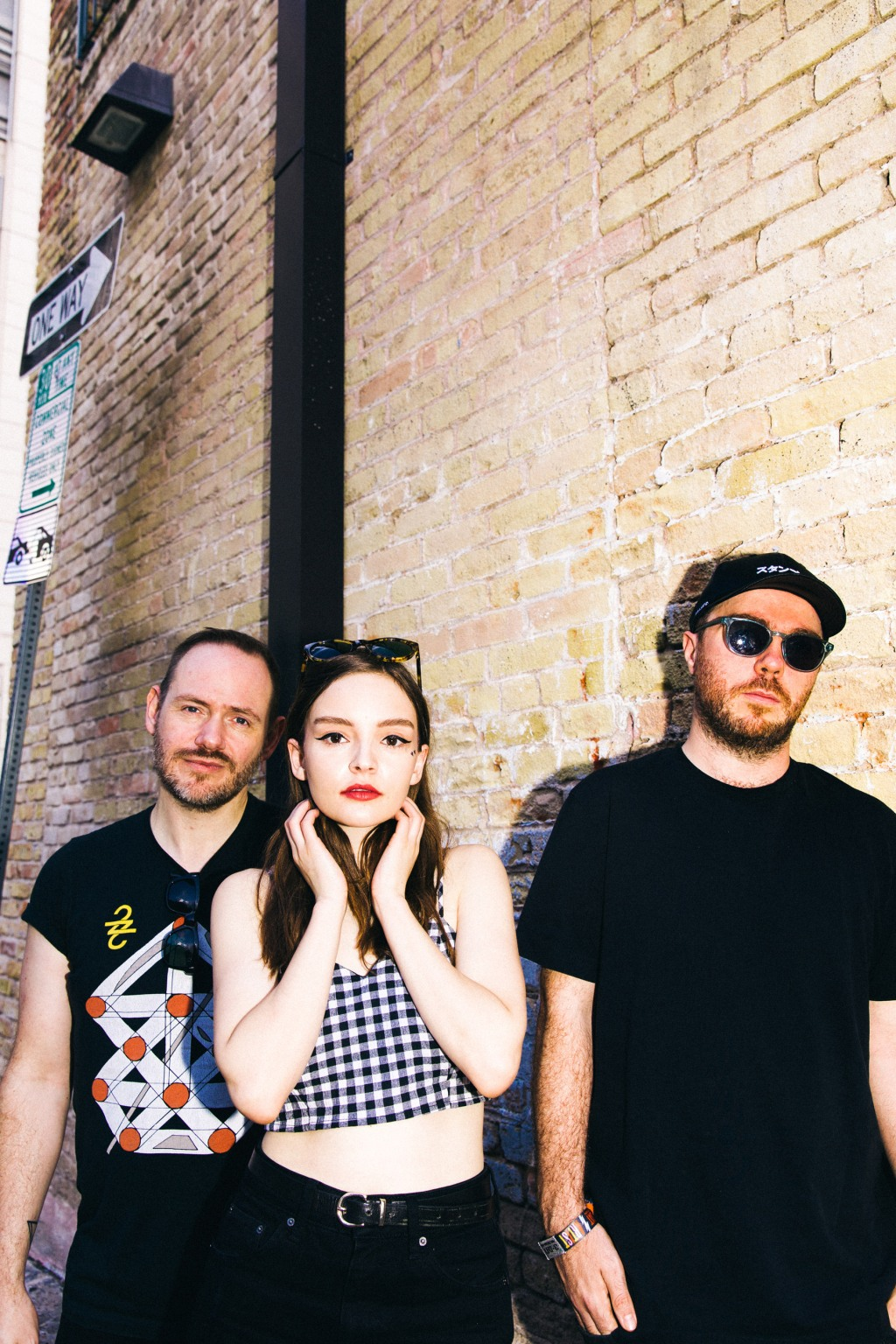 Scottish synth-pop trio Chvrches backstage at the Rolling Stone ACL 2018 Morning Sessions