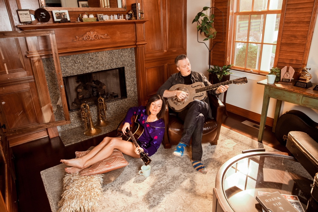 Jason Isbell and Amanda Shires at home, in August.