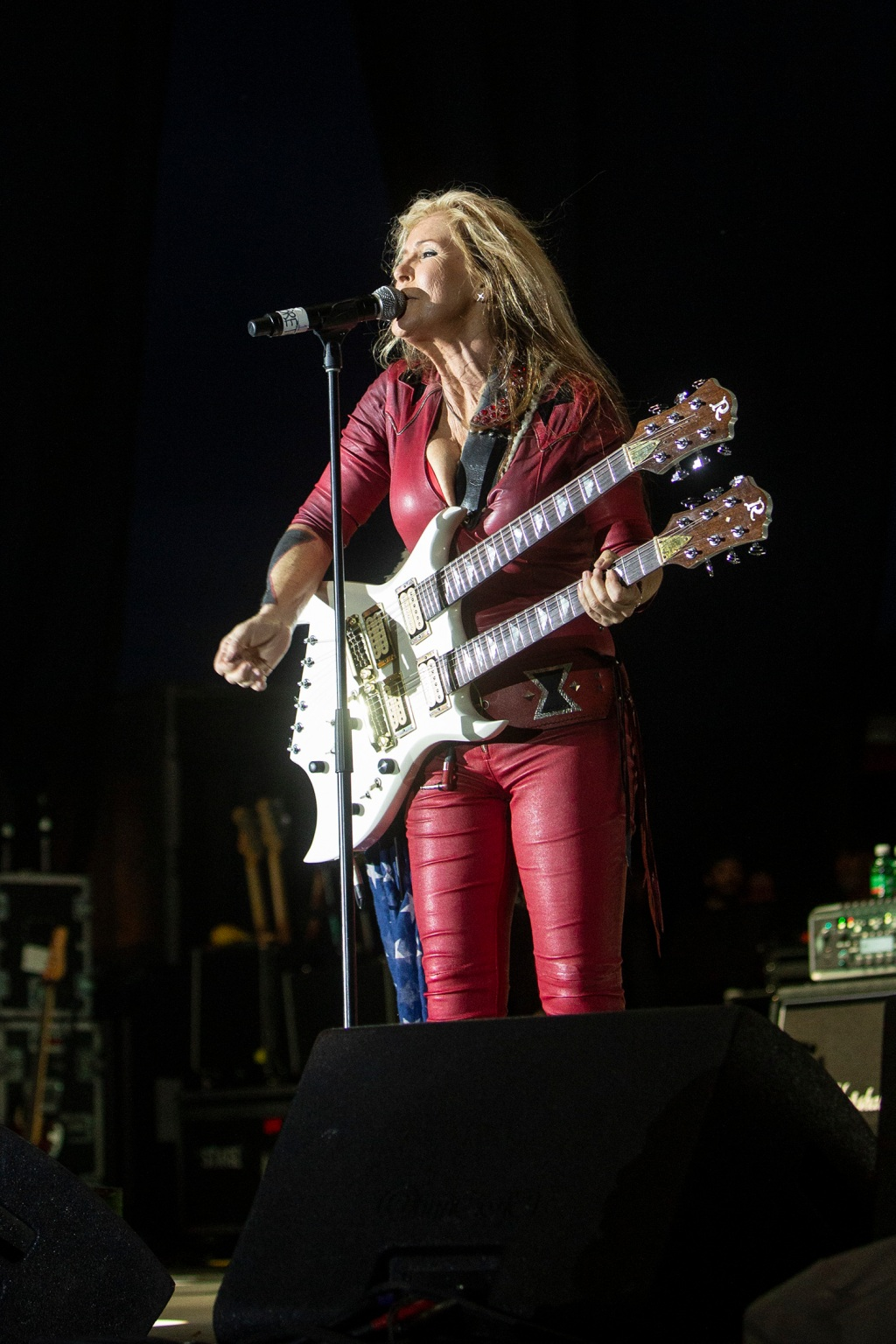 Lita Ford with her epic B.C. Rich Bich Double Neck.