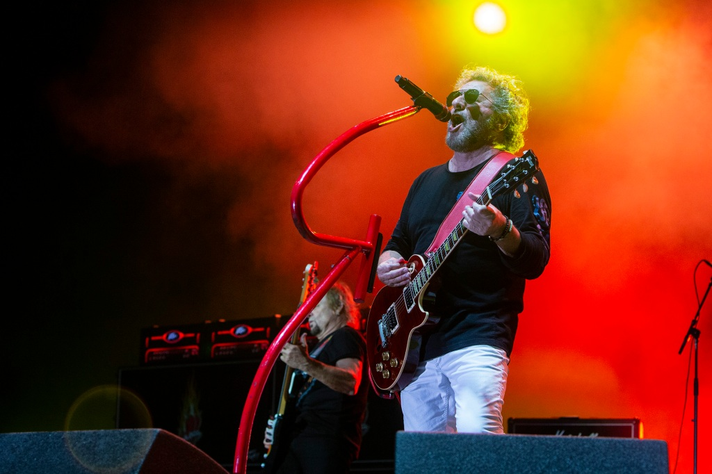 "Sammy Hagar and the Circle brought down the MAD Amphitheater with Van Halen classics, winding electric guitar solos and their big hit: ""I Can't Drive 55."""