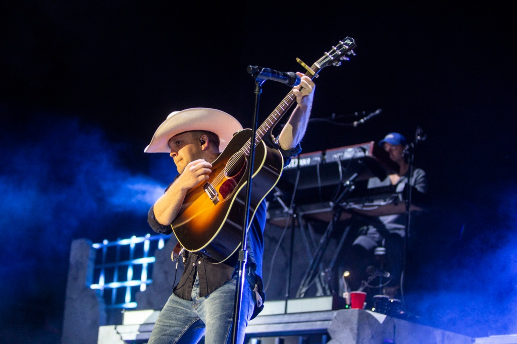 Justin Moore returns to El Dorado, Arkansas after four years on a much bigger stage.