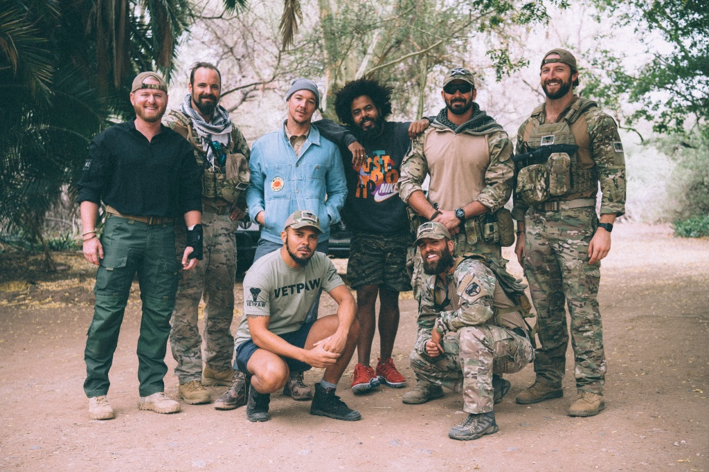 """""""We had a really great time at the rhino conservation camp with these guys – veterans that served their country proudly and wanted to use their skills to help a worthy cause. Regular guys from Florida, California and Colorado. Can't wait to go snowboarding with them soon!"""" — Jillionaire"""