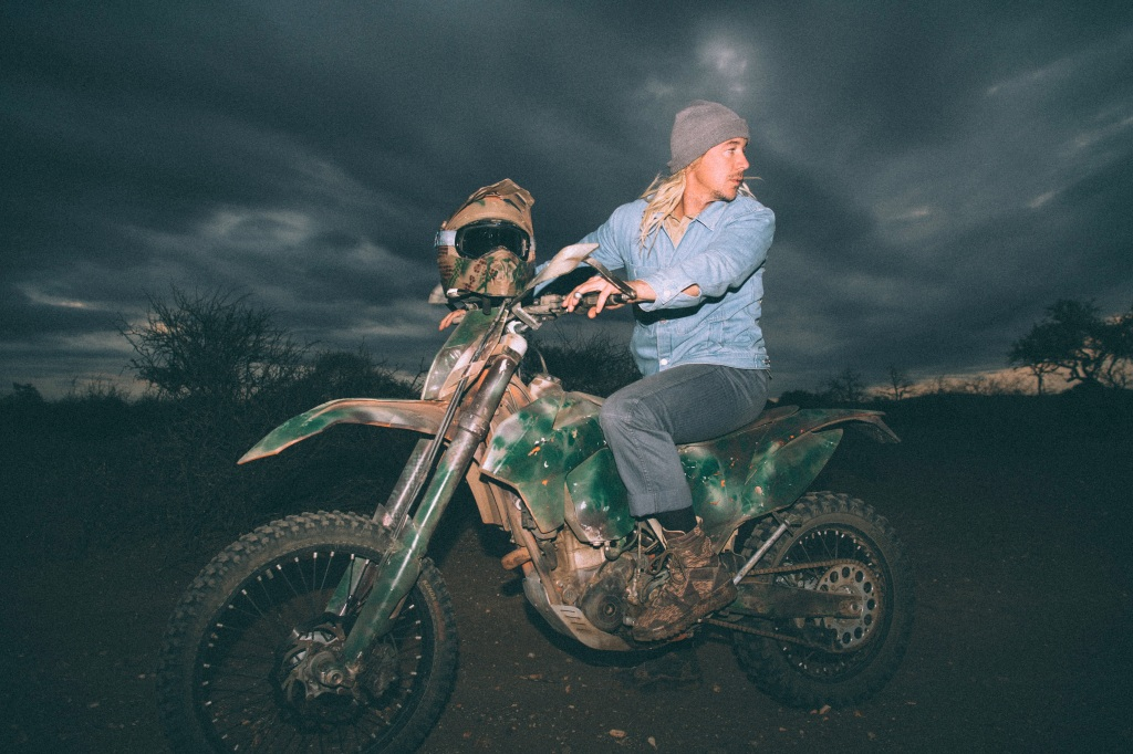 """""""I rode out along the safari routes on this dirt bike that VETPAW uses to get around the perimeter."""" — Diplo"""