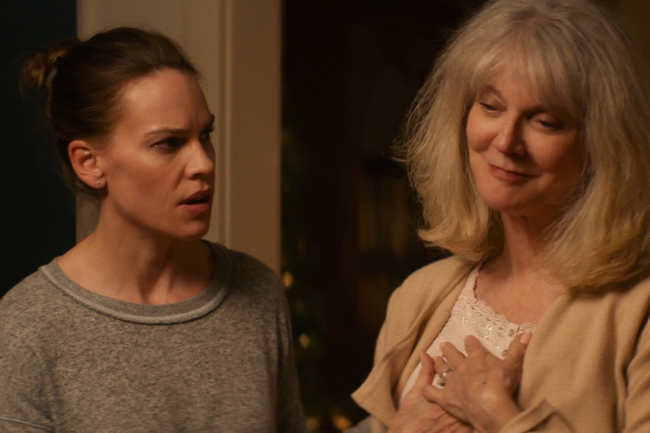"(L to R) Hilary Swank as ""Bridget"" and Blyth Danner as ""Ruth"" in Elizabeth Chomko's ""What They Had"", 2018"