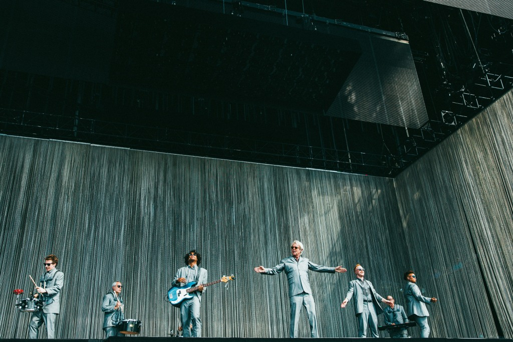 David Byrne performs during ACL weekend 1.