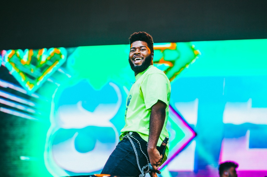 'American Teen' singer (and Texan) Khalid performs during Weekend 1 at ACL 2018.