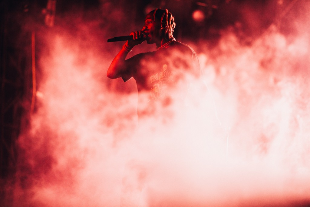 Travis Scott flew in after taping 'SNL' to replace Childish Gambino at Weekend 1 of ACL 2018.